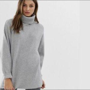 Women's free people grey turtle neck sweater
